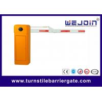 Best Security Straight Barrier Gate With Yellow Cabinet and Steel-casting Design wholesale