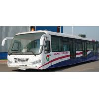 Durable Low Carbon Alloy Steel Body Nice Airport Shuttle Bus With Thermal King AC System