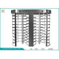 Best Double Lanes Rotating Full Height Turnstiles Turnstyle Gates CE Approved wholesale