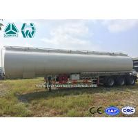 Buy cheap High Capacity Stainless Steel Tanker Trailers , 40000l - 60000l Oil Tanker Trailer from wholesalers
