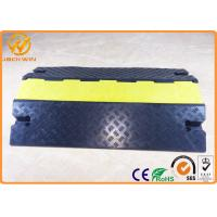 Best Heavy Duty Bright Yellow Safety Cable Protector Ramp for Warehouse / Conference Place wholesale