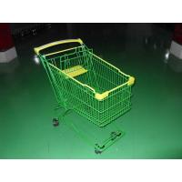Quality Colored Coated Wicker Shopping Trolley with curved plastic handle wholesale