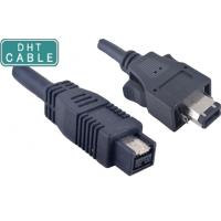 Insulated Firewire Camera Cable 1394A 6 Pin With Latches To 180 Degree 1394B 9pin