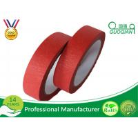Best Low Adhesive Solvent - Based Acrylic Red Colorful Thin Masking Tape Crepe Paper wholesale