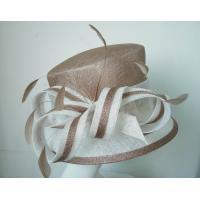 Quality Church Sinamay Ladies Fashion Hats , coque tip feathers trim wholesale