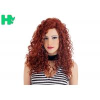 Quality High Quality Synthetic Wigs Red Color No Lace Synthetic Curly Wigs Natural Looking wholesale