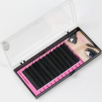 Quality Black Full Set D Curl Eyelash Extensions , Individual Salon Eyelash Extensions wholesale