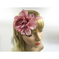 OEM Big Pink Flower Girl Hair Band Jewelry Women Hair Bands For Short Hair