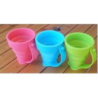 Quality Coffee Drinking Silicone Drinking Cups Food Grade With Customized Logo 170ml wholesale
