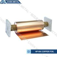 Quality High Conductivity Surface Degreasing Copper Foil Roll , Tolerances ±0.001 wholesale