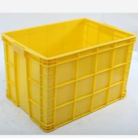 Offer HDPE Stackable Solid Plastic Crate, Crate with Bottom Drainage Holes