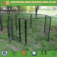 Quality 6'H x 4'W x 4'L Easy Assemble Black Powder Coated Welded Wire Mesh Dog Kennel/Dog Cage wholesale