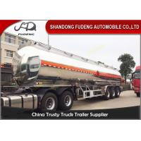 50 cbm 3 axle tanker fuel oil semi trailer aluminium alloy for sale