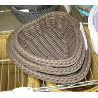 High Quality PP Rattan Heart Shape Storage Basketry