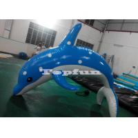 Heat Sealed 3m Inflatable Dolphin For Water Park With CE UL SGS Certification