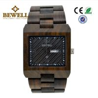 Best Square Shape Luxury Wooden Wrist Watch , Recycled Custom Wood Watch For Sport / Business wholesale