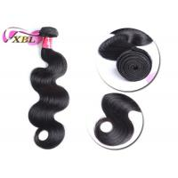 """Best Full Cuticles Wavy Indian Virgin Hair Weft Can Be Curled Well Length 8"""" - 40"""" wholesale"""