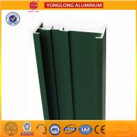 Quality Square Green Powder Coated Aluminum Alloy Extrusion With Strong Stability wholesale