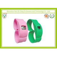 Quality Promotion Gift Green / Pink Silicone Strap Watches With Custom Printed Logo wholesale