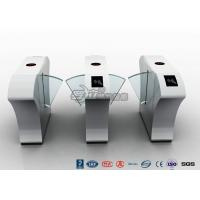Half Height Access Control Turnstile Automatically Flap Barrier With Acrylic Flap
