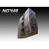 High Powered Line Array Speakers For Big Performance , Black Color