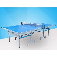 Best Easy Install Blue Ping Pong Table , Aluminum Ping Pong Table Movable With Logo wholesale