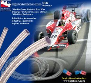 Motorsport racing High performance hose,  racing hose,  braided rubber hose,  DELIKON BRAIDED RUBBER HOSE
