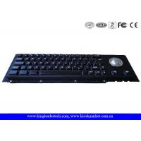 Quality Black Cherry Mechanical Keyswitch Metal Panel Mount Keyboard With Trackball wholesale