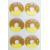 Quality Doughnut round Fuzzy Stickers Non Woven 3D Dimensiona Layered glitter wholesale