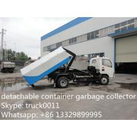 4*2 Dongfeng Hydraulic lifter Garbage Trucks 3tons 5tons 6tons 8tons for sale, dongfeng hook lift garbage truck for sale
