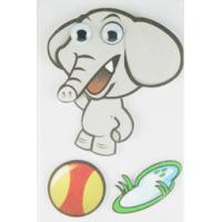 Quality Soft kids Layered Paper Movement Sticker , Elephant Stickers OEM / ODM wholesale
