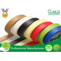 Quality Decorative Low Tack Masking Tape , Blue Painters Masking Tape Rubber Adhesive wholesale
