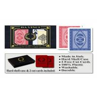 Quality 100% Plastic Da Vinci Route Marked Playing Cards For Poker Cheat Bridge Size wholesale