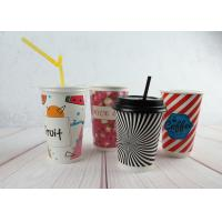 Quality Red / Black Personalized Insulated Paper Cups Custom Disposable Coffee Cups wholesale