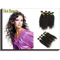 Quality Custom Natural Black Remy Virgin Human Hair Extensions Deep Wave wholesale