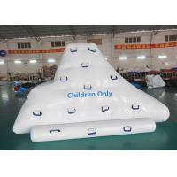 Quality Climbing And Sliding Iceberg With Handels For Inflatable Water Games wholesale