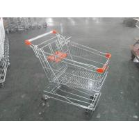 Quality Asian Style Metal Shopping Trolley 100KGS with Anti-rust Treatment wholesale