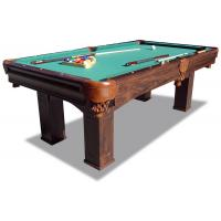 7.5 Feet Pool Game Table Durable Taclon Cloth Surface With Real Leather Pocket