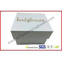Quality Pearl white top and base box golden logo , smart watch box with PU pillow wholesale