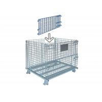 Standard Collapsible Wire Container Industrial Wire Bins 30 Inch Wide X 28 Inch High