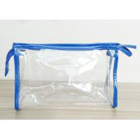 Quality Transparent PVC Cosmetic Bag with Zipper closure , Clear Vinyl Make-Up Pouches wholesale