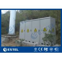 Four Compartment Integrated Outdoor Telecom Cabinet , Base Station Cabinet