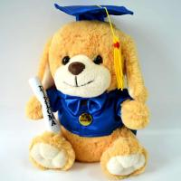 Best Cute Plush Toys for baby, Graduation Present, Graduation Dog Plush. wholesale