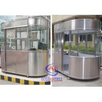 Buy cheap Outdoor Fibreglass Ticket Security Guard Booths / Mobile guard house from wholesalers