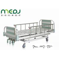 Quality Green Manual Hospital Bed Height Adjustable Three Cranks Steel Frame MJSD05-10 wholesale