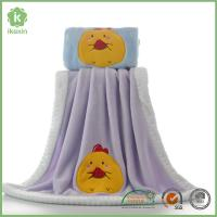 Best Binding Purple Flannel Baby Blanket With Customized Embroidery Logo wholesale