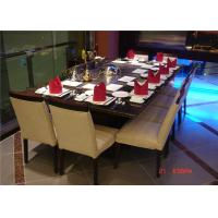 Quality 8 Seats Rectangle Teppanyaki Grill Table For Hotel / Restaurant wholesale