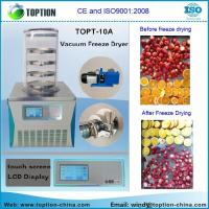 TOPT-10A mini lab bentop vacuum freeze dryer for food, fruit, vegetable