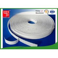 White Sticky On Hook & Loop Tape Self Adhesive / Custom Hook And Loop Fasteners