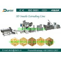 Quality Automatic Panipuri / Golgappa Fryum 3d Snack Extruder Machine processing line wholesale